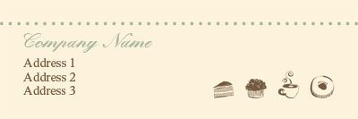 Beige and Green Bakery Address Label Template